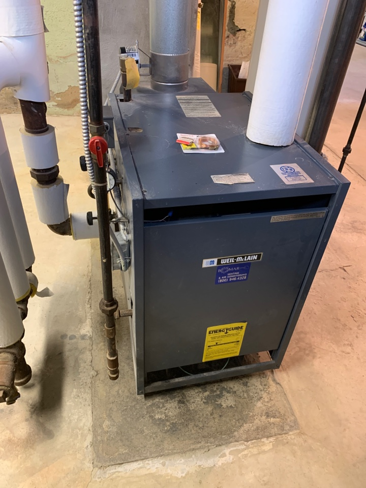Freeport, IL - Here for an annual clean and check for this Wel-McClain steam boiler