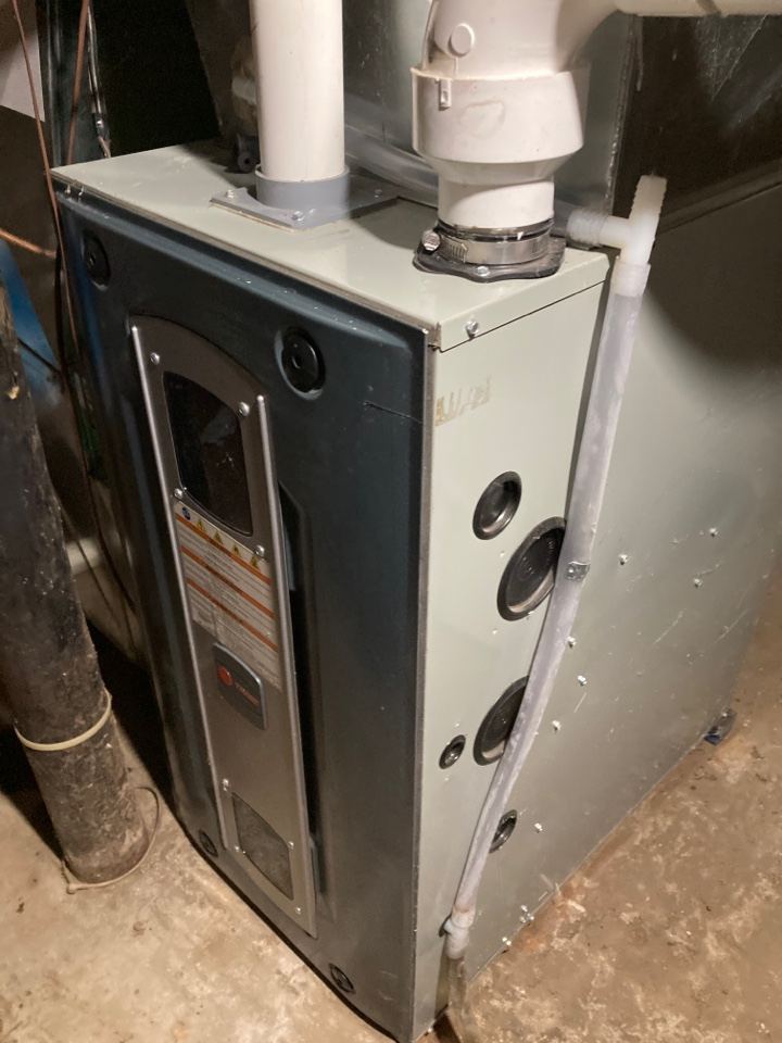 Oregon, IL - Working on this Trane furnace.