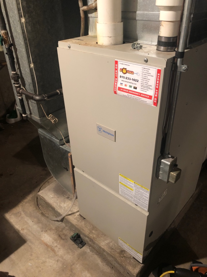 Freeport, IL - Performed the seasonal maintenance inspection on this Westinghouse furnace.