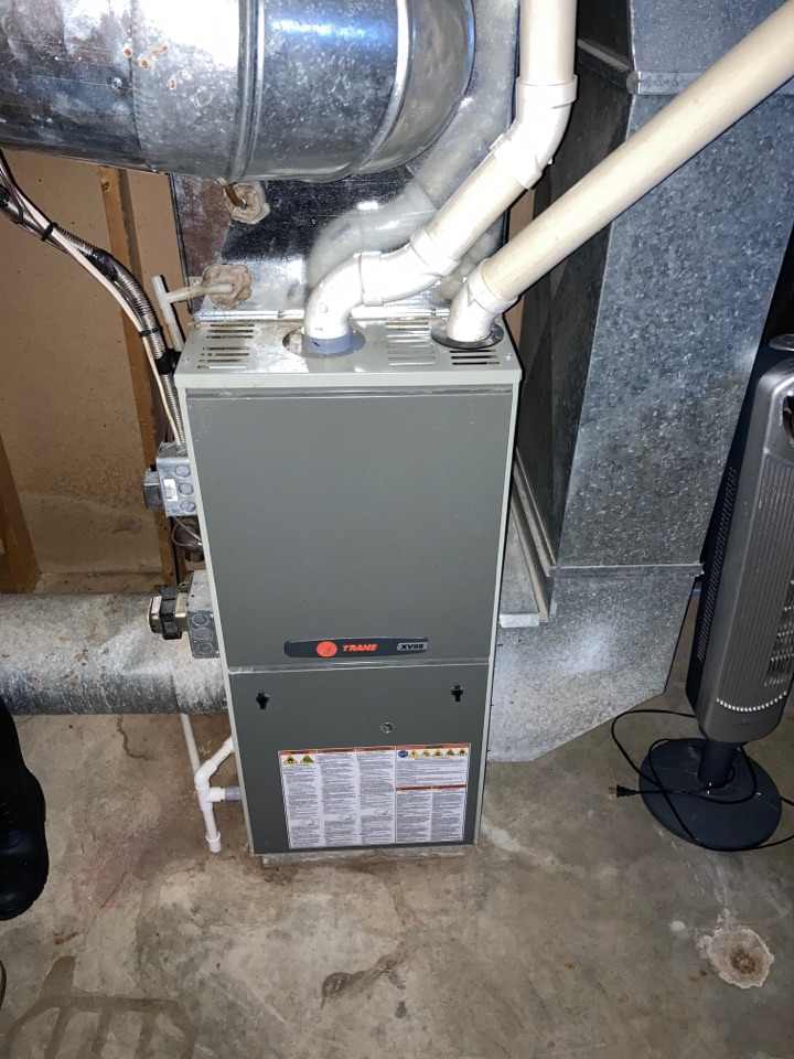 Mount Carroll Historic District, IL - Keeping this Trane furnace up and running. Quality service provided by BoMar Heating and Cooling!