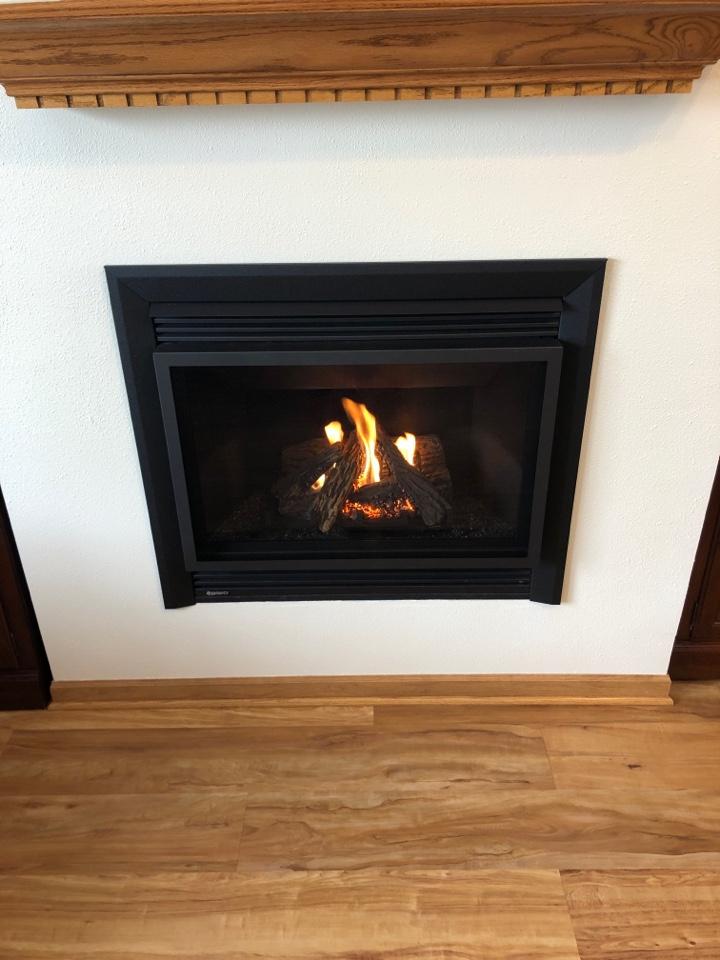 Freeport, IL - Performed the seasonal maintenance on this Regency fireplace.