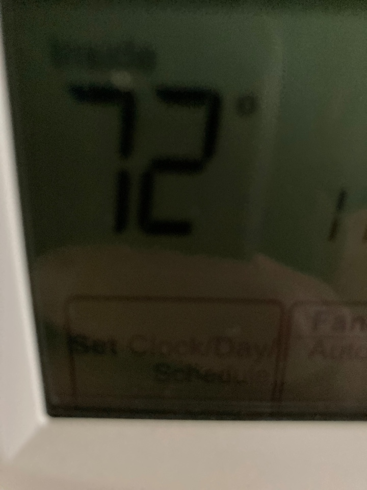 Freeport, IL - 72 and comfortable on this York air conditioner inspection.