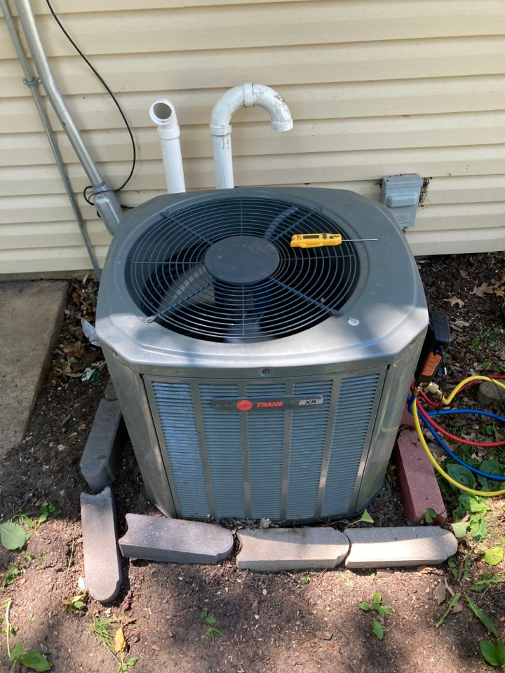 Winnebago, IL - Another Trane checked out for the summer by BoMar Heating and Cooling!