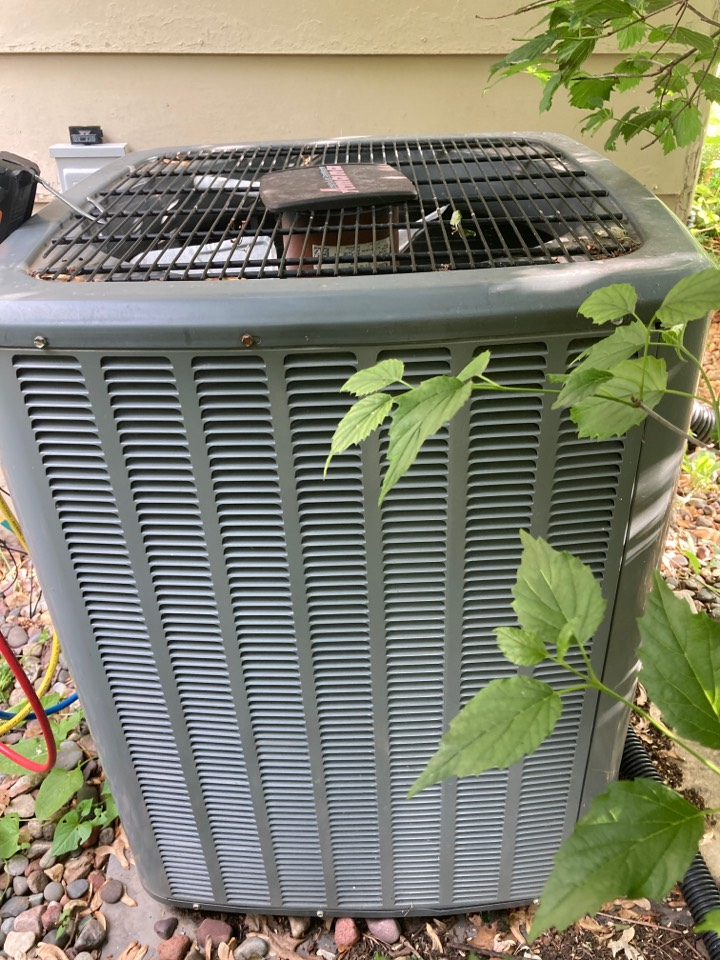 Dakota, IL - Checking out this Amana air conditioner for the summer!