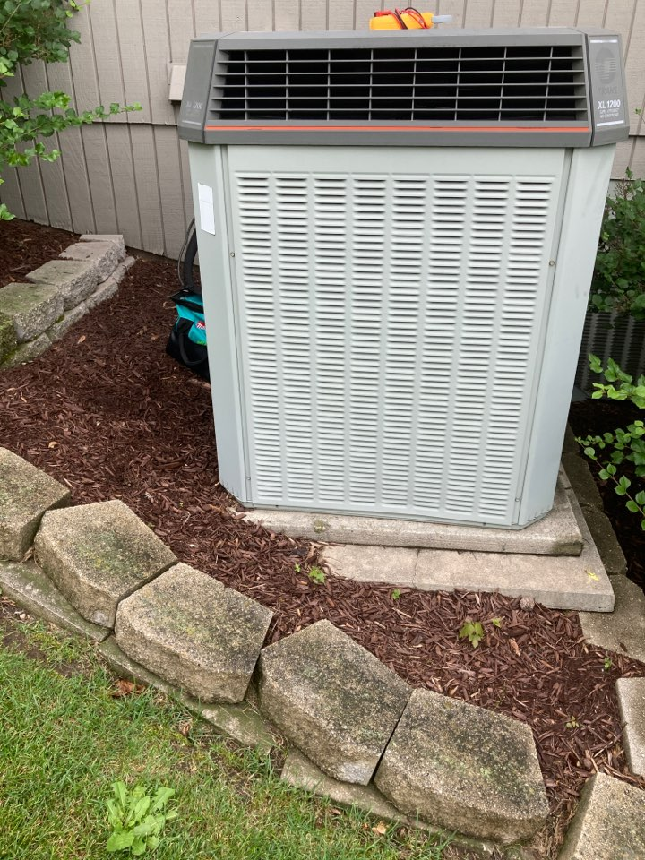 Loves Park, IL - Another Trane air conditioner ready for summer!