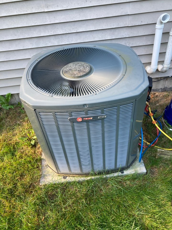 Rockford, IL - Trane air conditioner ready again for summer!