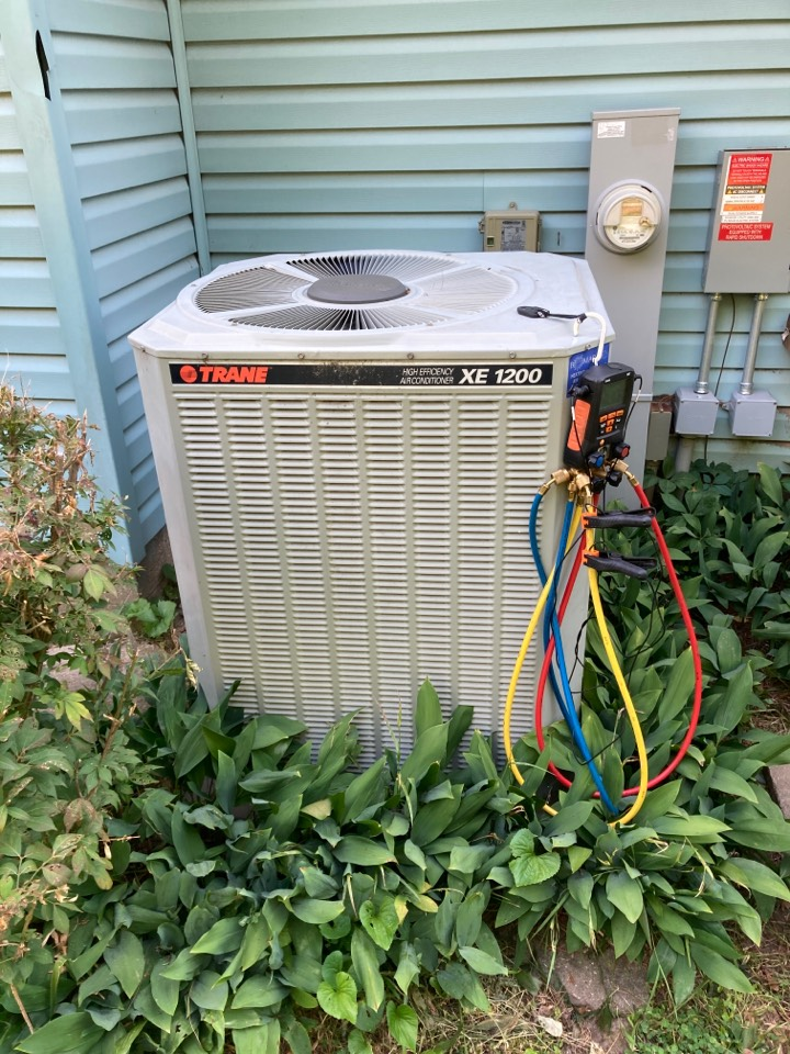 Rockford, IL - Getting this Trane air conditioner ready for summer heat!