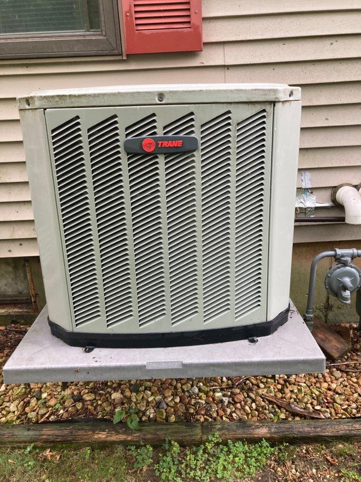Lanark, IL - Trane air conditioner ready for summer!