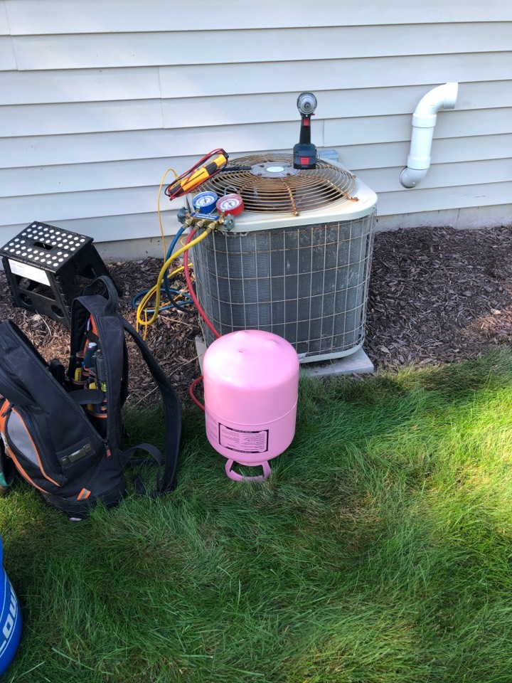 Loves Park, IL - Annual air conditioning maintenance inspection and cleaning plus repair