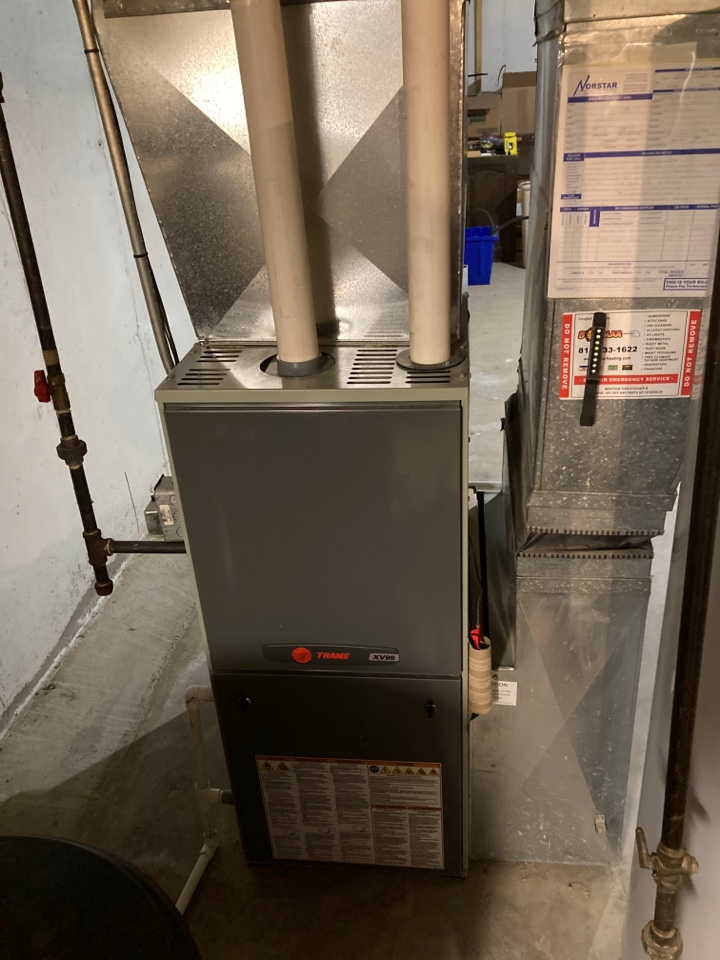 Rockford, IL - Trane furnace ready for this years winter