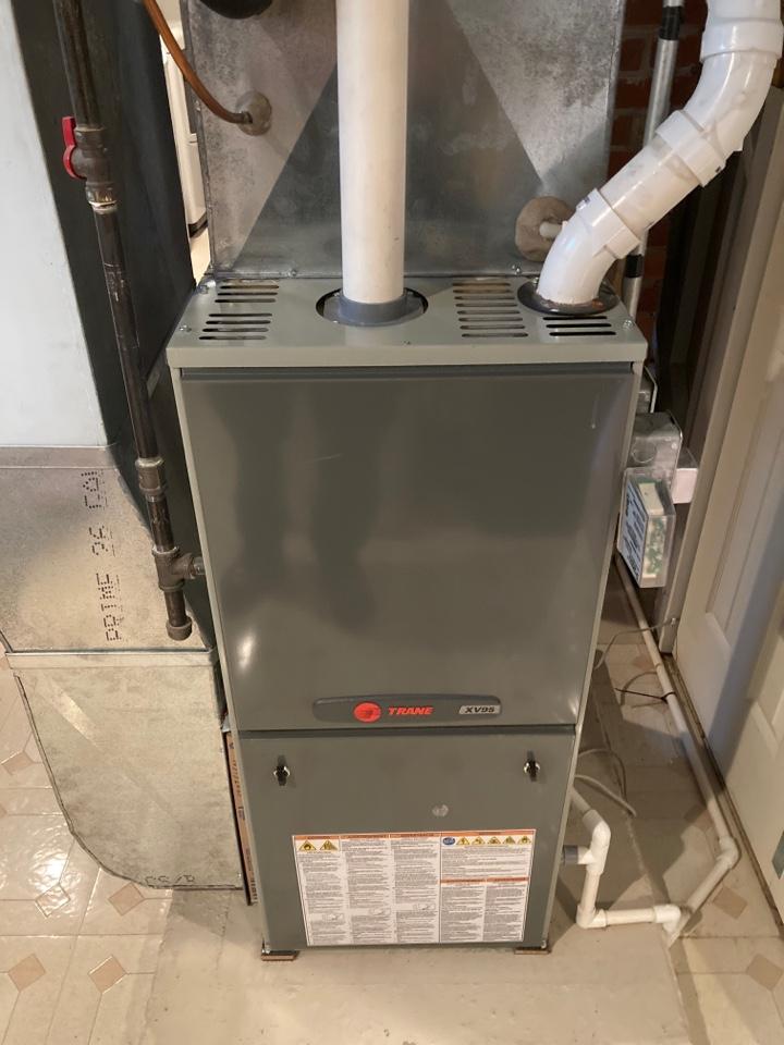 Freeport, IL - Trane furnace ready to go for winter.