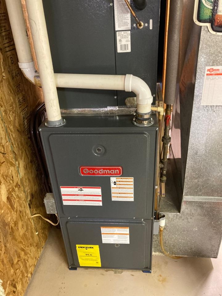 Byron, IL - Goodman furnace ready for winter!