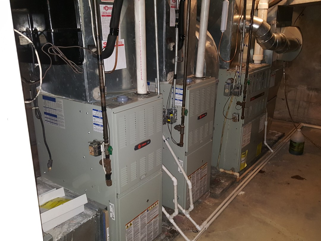 Lena, IL - Furnace cleaning. Performed furnace cleaning on three Trane furnaces.