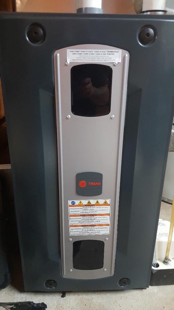 Byron, IL - Service Trane high efficiency gas furnace