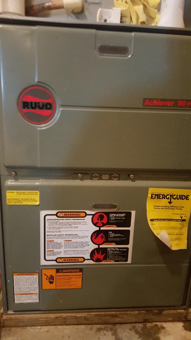 Byron, IL - Repair on Ruud gas furnace