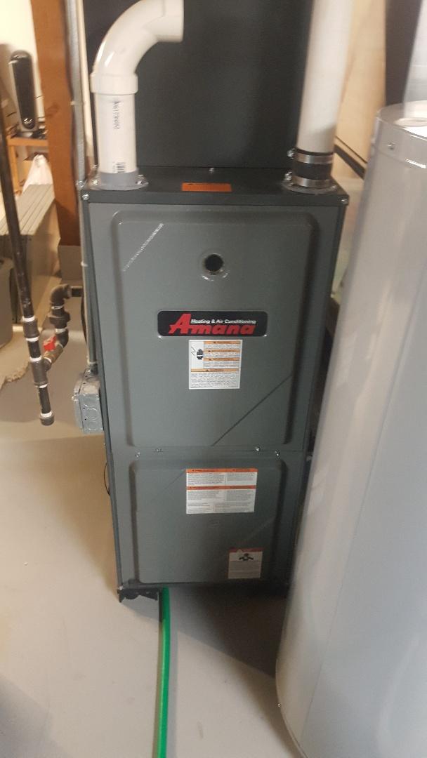 Byron, IL - Annual furnace inspection Amana high efficiency furnace