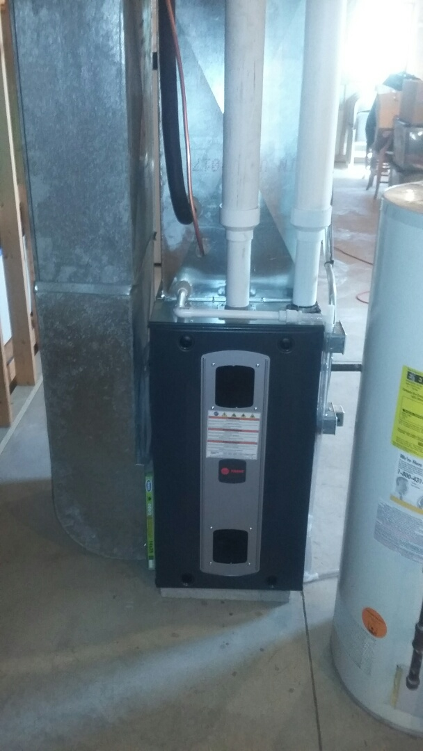 Pecatonica, IL - Installed Furnace and A/c. Porformed install on Trane unit.