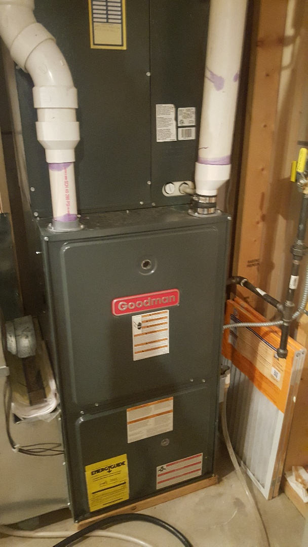 Byron, IL - Annual furnace inspection on a Goodman furnace