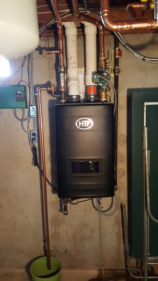 Lena, IL - Boiler install of a HTP high efficient boiler.