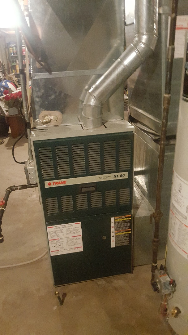 Winnebago, IL - Annual maintenance inspection on a Trane furnace and Humidifier