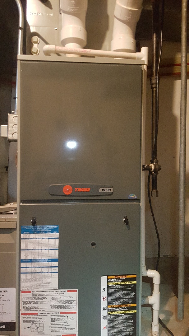 Machesney Park, IL - Annual maintenance inspection on a Trane high efficiency gas furnace