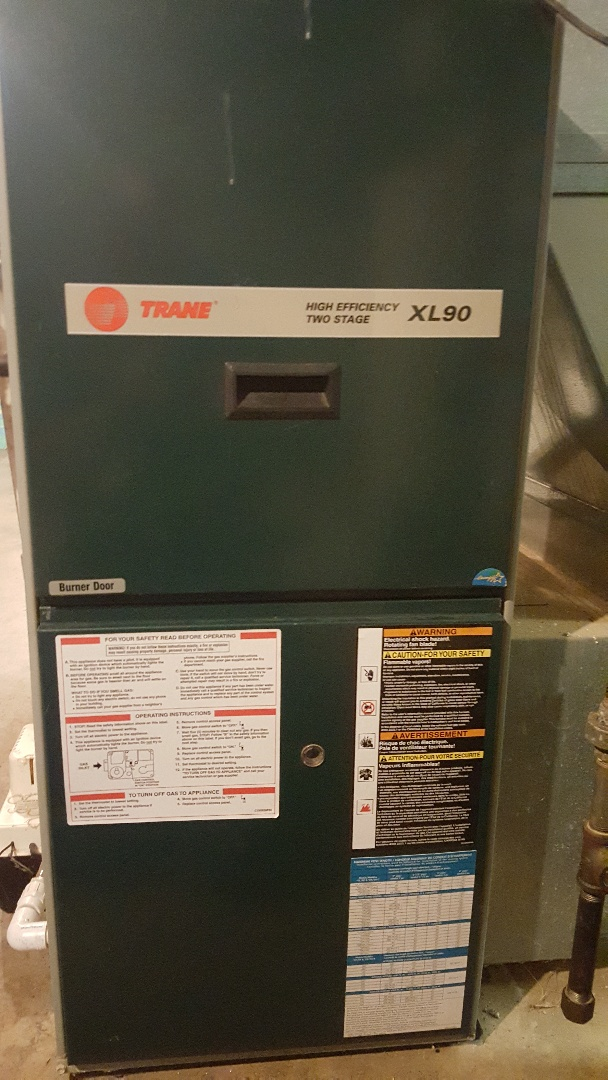 Pecatonica, IL - Annual maintenance inspection on a Trane high efficiency gas furnace