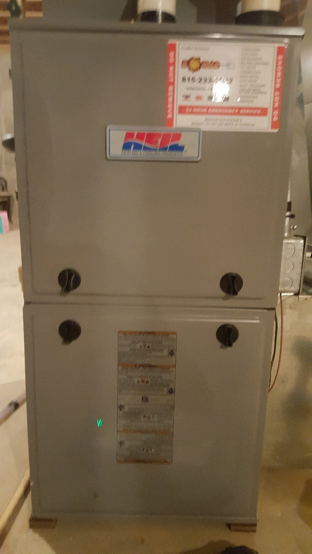 Byron, IL - Annual maintenance inspection on a Heil high efficiency gas furnace and AprilAire humidifier