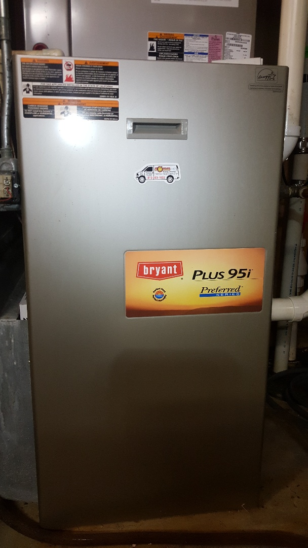 Belvidere, IL - Annual Bryant high efficiency gas furnace and AprilAire humidifier inspection