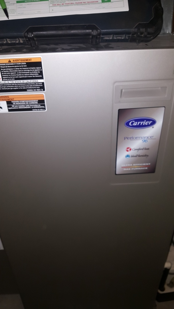 Garden Prairie, IL - Carrier furnace annual maintenance inspection
