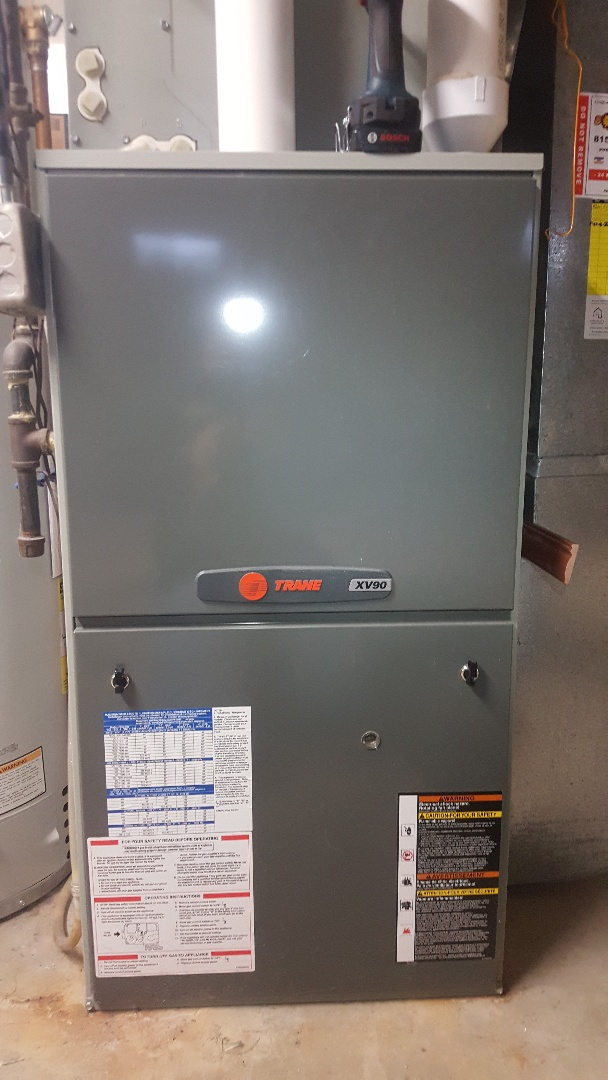 Rockford, IL - Annual maintenance inspection on a Trane furnace and AprilAire humidifier