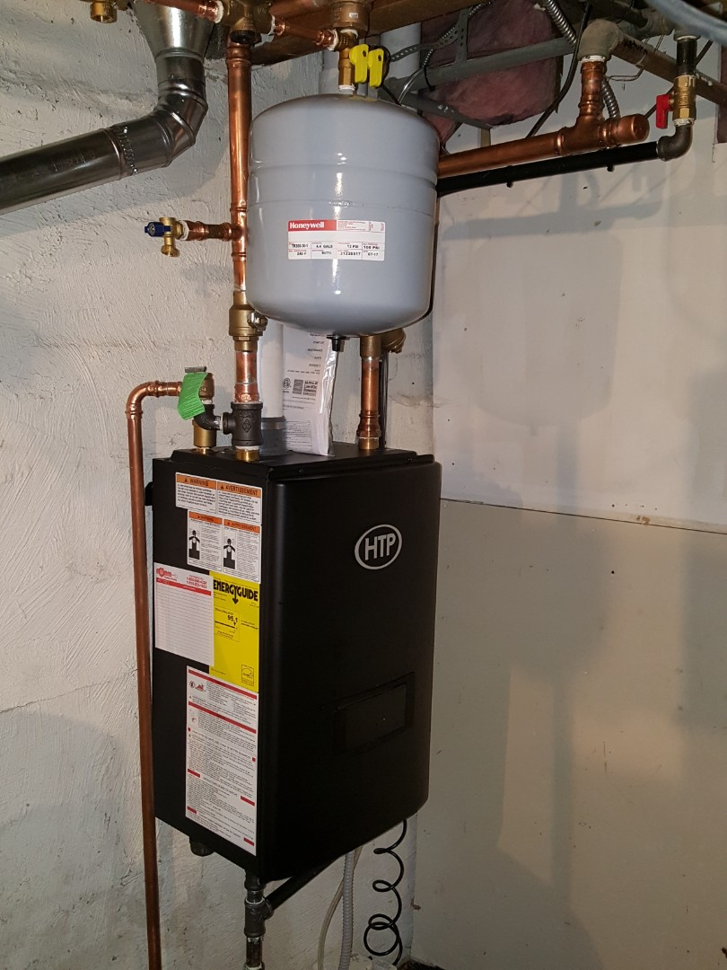 Mount Morris, IL - Boiler install of a HTP boilet.
