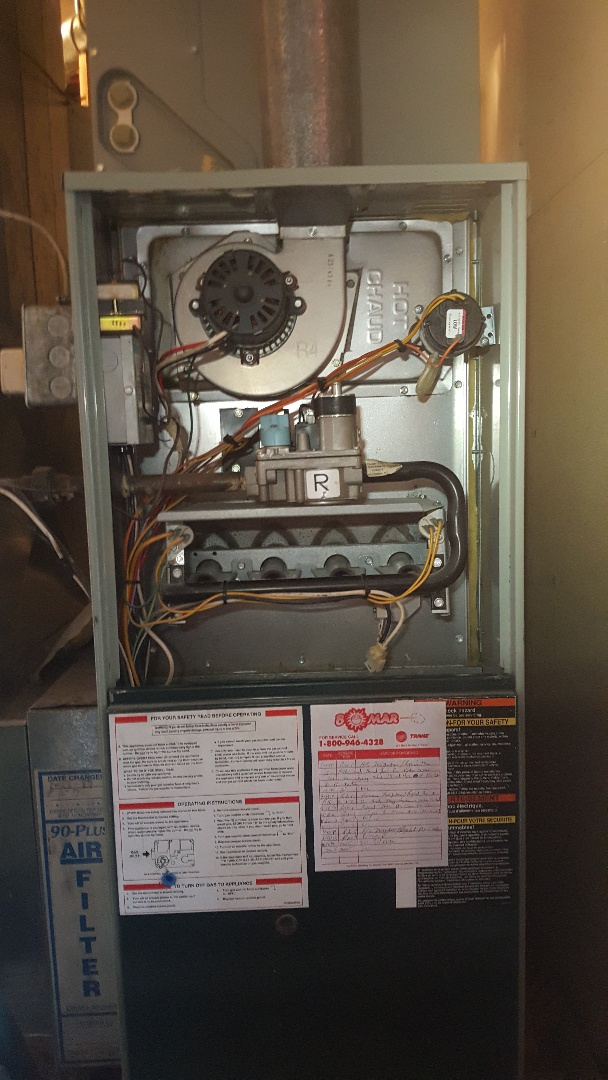 Davis, IL - Trane furnace annual maintenance inspection