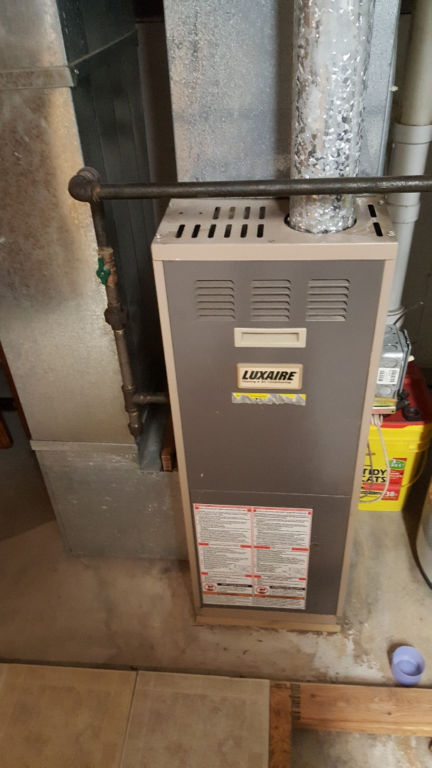 Byron, IL - Furnace repair on a Luxaire furnace. All repaired so you can re- Lux! Lol