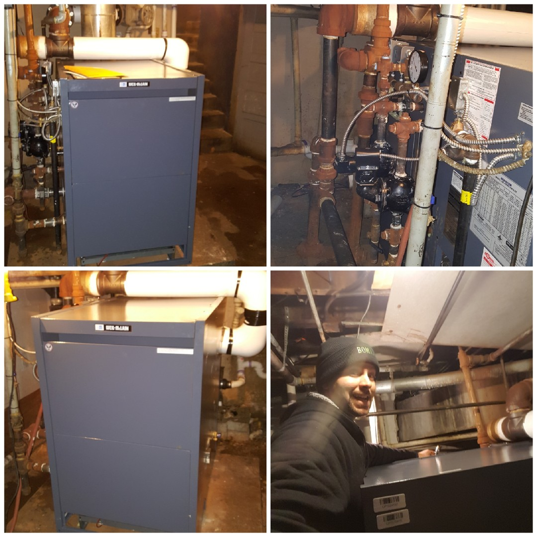 Rockford, IL - Steam Boiler install at a commercial restaurant. I am getting hot and steamy!!!!