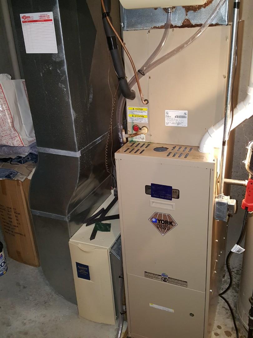 Freeport, IL - Seasonal maintenance on a York furnace.