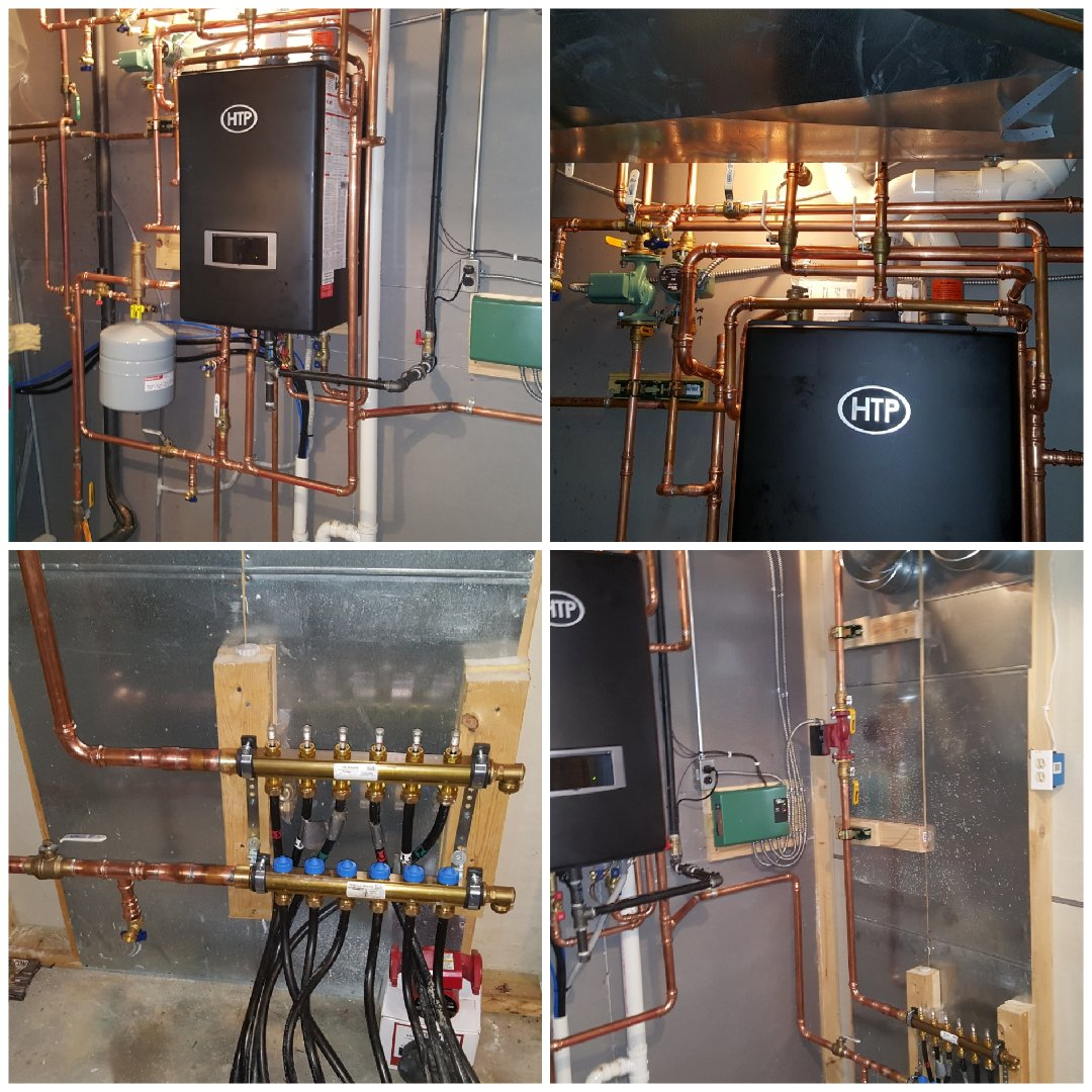 Freeport, IL - In lake carroll yesterday. Install of a high efficiency boiler/water heater. Looking good!!!