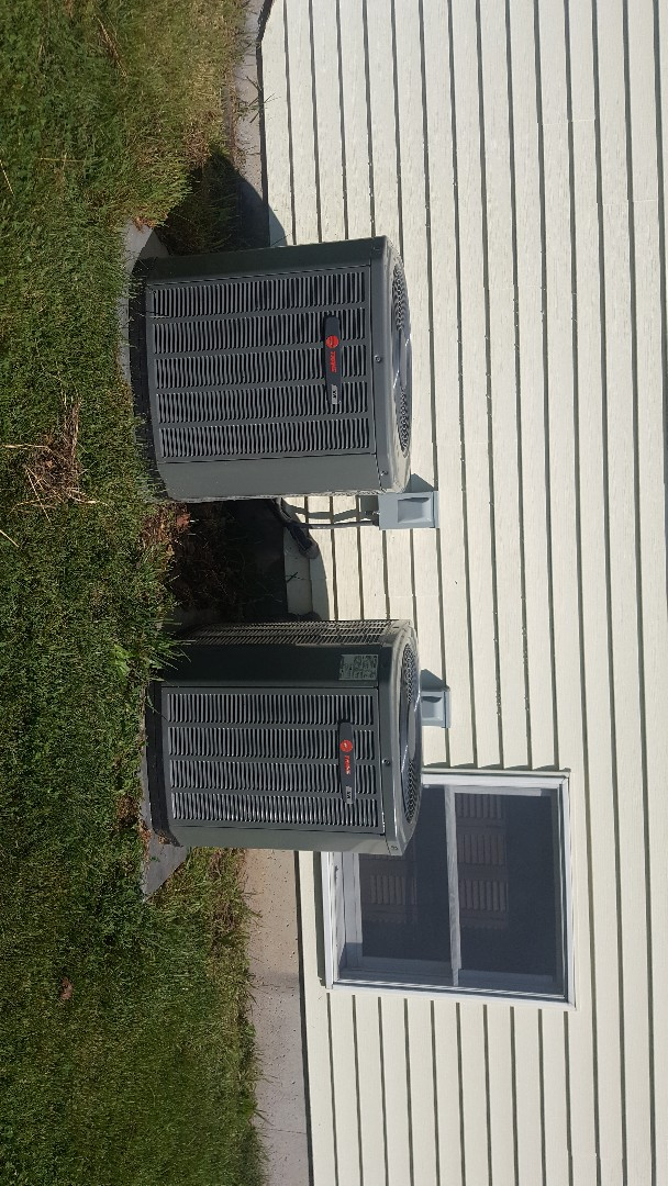 Rock City, IL - Trane air conditioning maintenance inspection and cleaning