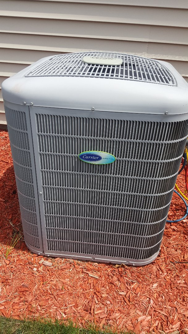 Loves Park, IL - Carrier air conditioning maintenance inspection and cleaning