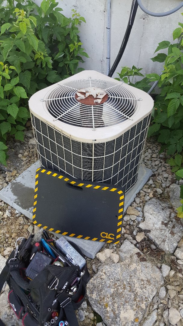 Warren, IL - Air conditioner repair on a miller unit. Mice chewed the wiring but the Bomar saved the day!