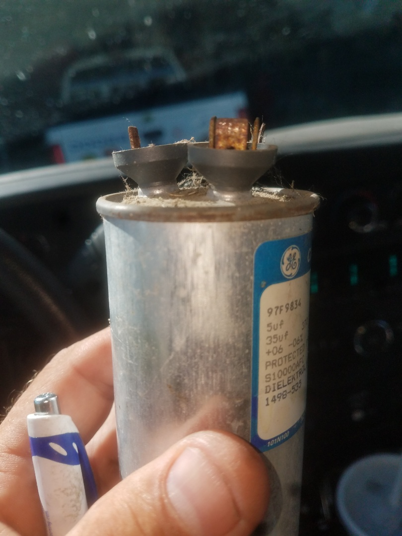 Belvidere, IL - Coleman a/c service. Replaced blown capacitor.