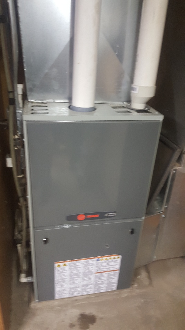 Pecatonica, IL - Annual maintenance inspection and cleaning on a Trane high efficiency gas furnace