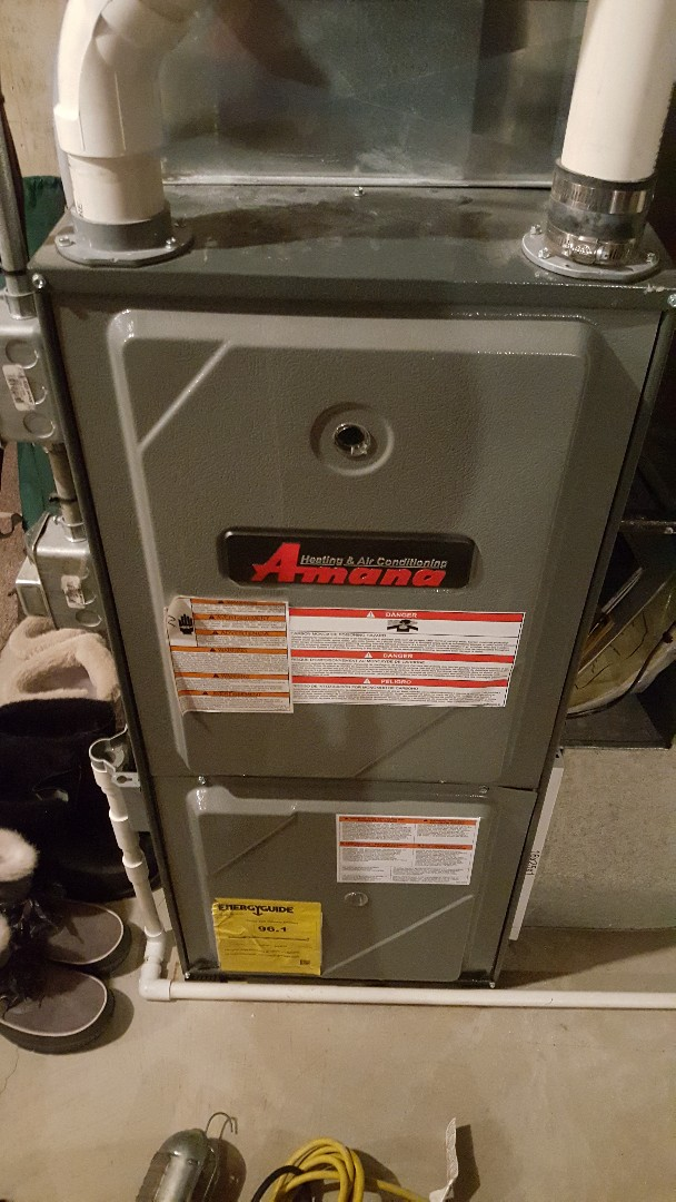 Davis, IL - Seasonal maintenance on an Amana furnace.