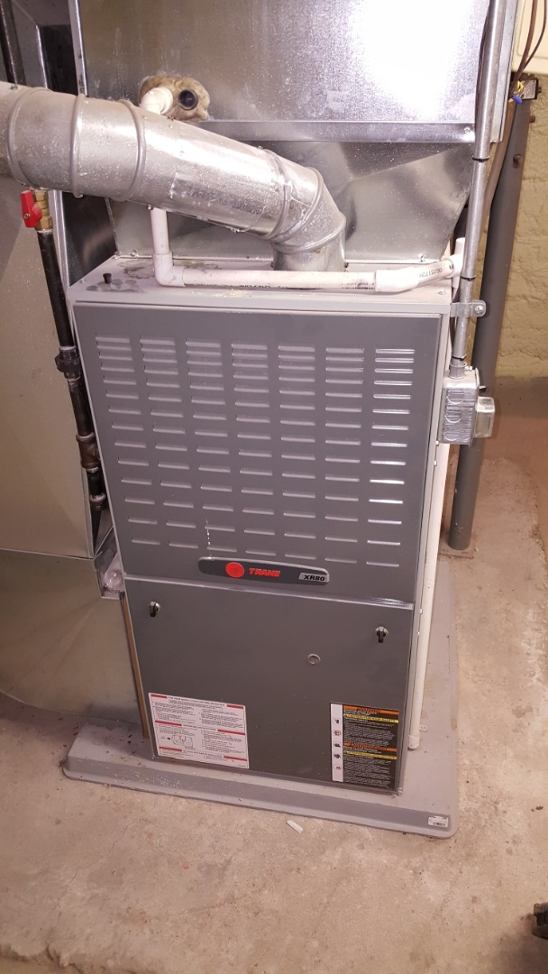 Shannon, IL - Seasonal maintenance on a Trane furnace.