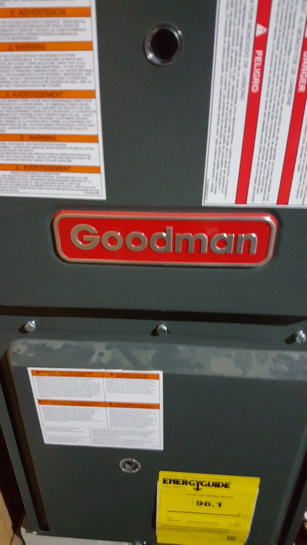 Stockton, IL - Seasonal maintenance on a Goodman furnace. A good man working on a Goodman furnace. Match made in hvac utopia!