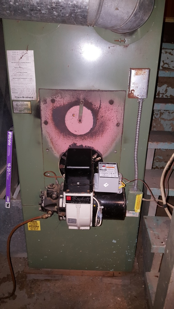 Mount Morris, IL - Oil furnace repair on a Clare unit.