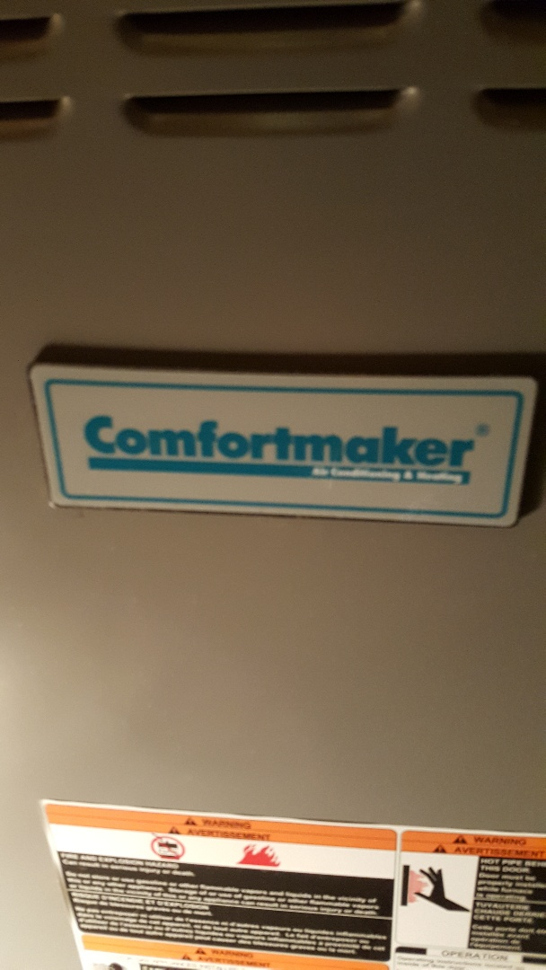 """Freeport, IL - Seasonal maintenance on a Comfortmaker furnace. I guess you can call me the """"Comfort keeper!"""""""