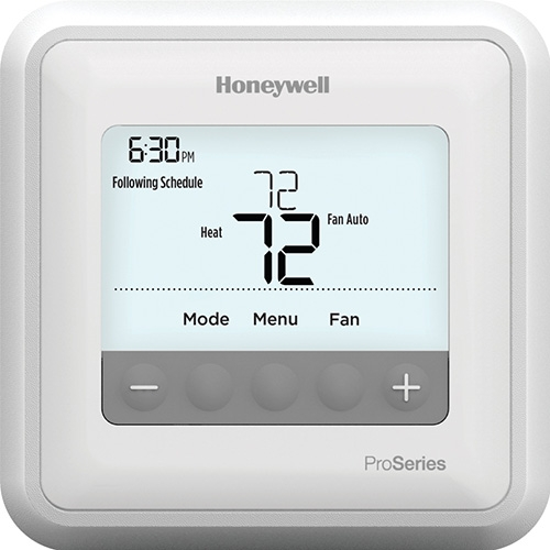 Freeport, IL - Seasonal maintenance on a Carrier furnace. These new thermostats have such a nice display.  Easy to read with bigger numbers and lit up display.