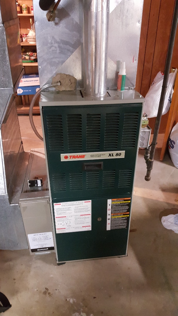 Freeport, IL - Seasonal maintenance on a Trane furnace. Looking good in her old age!!