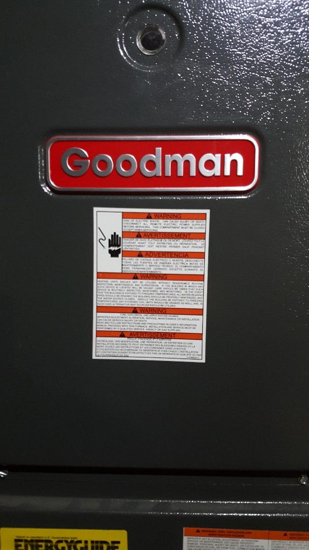 McConnell, IL - Furnace repair on a Goodman unit.
