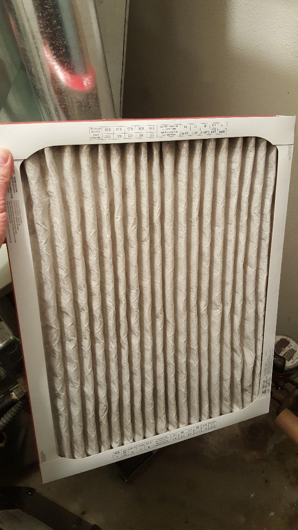 Freeport, IL - Furnace repair on a Trane furnace. Can't stress this enough but these white pleated filters are so bad for a furnace with how much air restriction they put on the unit. Buy the cheap fiberglass ones with monthly filter changes.